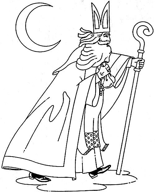 Clip Art Saint Nicholas Coloring Pages St Nicholas Day