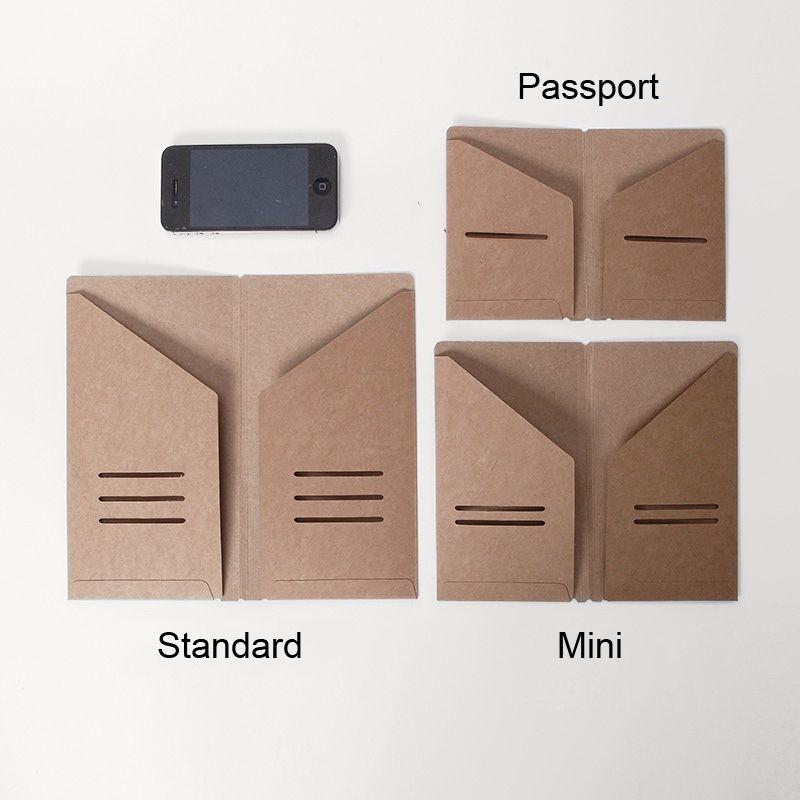 3 pcs/lot Traveler\'s Notebook Kraft Paper Pocket Business Card ...