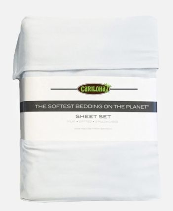 Cariloha Classic Viscose From Bamboo Queen Sheet Set White