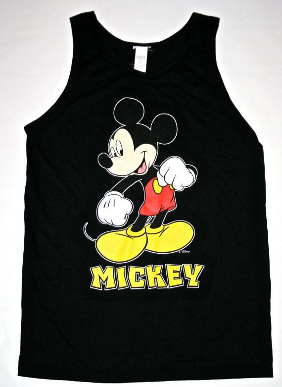 Vintage 1990's Disneyland Mickey Mouse Tank by VintageMensGoods, $35.00