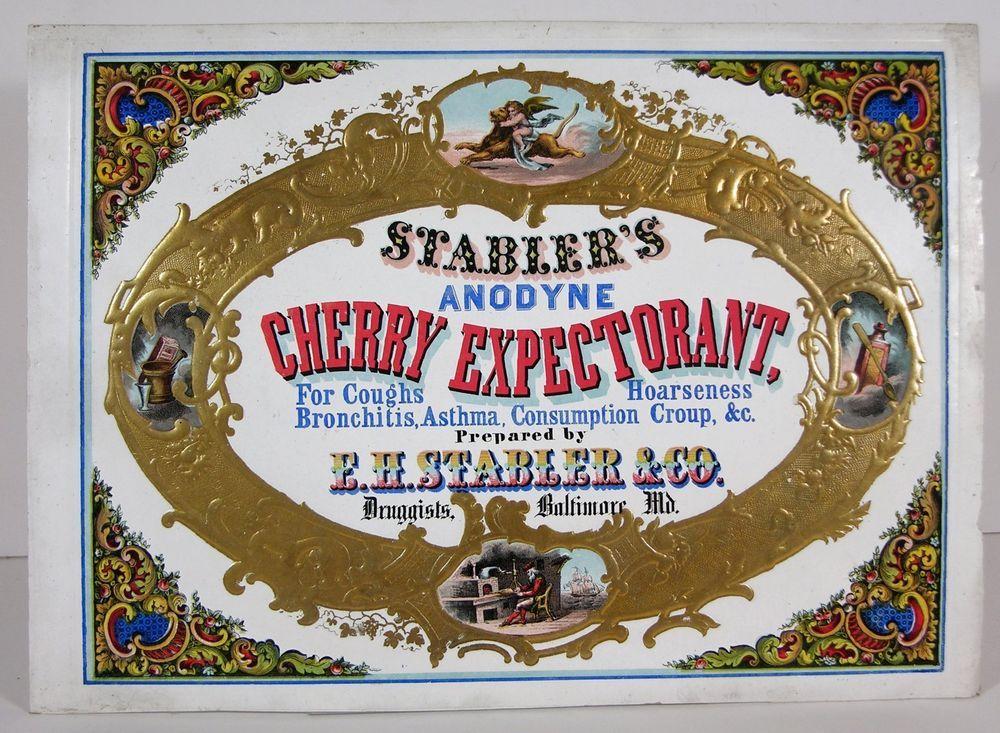 Fantastic ca1850 patent medicine coated stock card