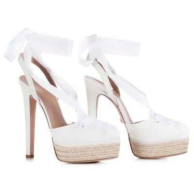 LE SILLA Avana Sandal In Paper Colour In Chiffon, Soft Calfskin H.145 Mm. #lesilla #shoes #sandals