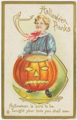 Free Printable Vintage Halloween Postcard Oude Kaart Jol Kaarten