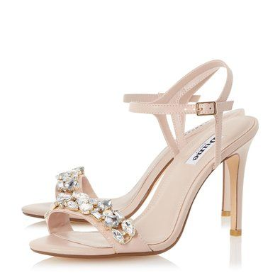 816352759 Amazon.com  Dune London Women s MYA Jewel Embellished High Heel Sandal   Clothing
