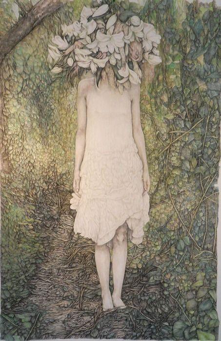 FOR SALE:  TITLE: Paralda (Tacere)  ARTIST: Valentina Ferrarese  YEAR: 2011  MEDIUM: Pencil on paper  SIZE: 180 x 130 centimeters   Original Work $4375.00