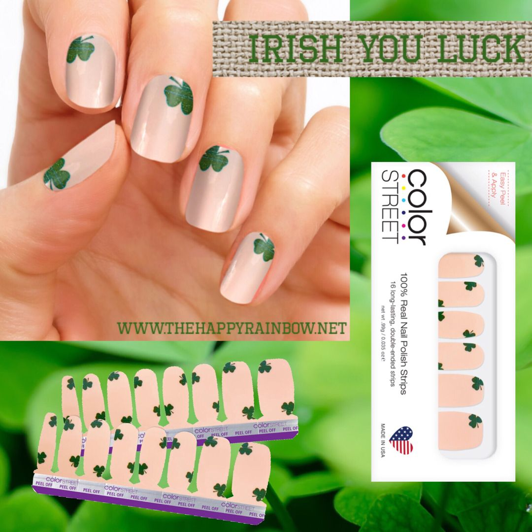 Color Street 100 Nail Polish Art For 2019 St Patrick S Day Get
