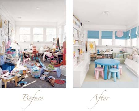 Messy Kids Room Before And After blogging real simple: a messy playroom gets organized | playrooms