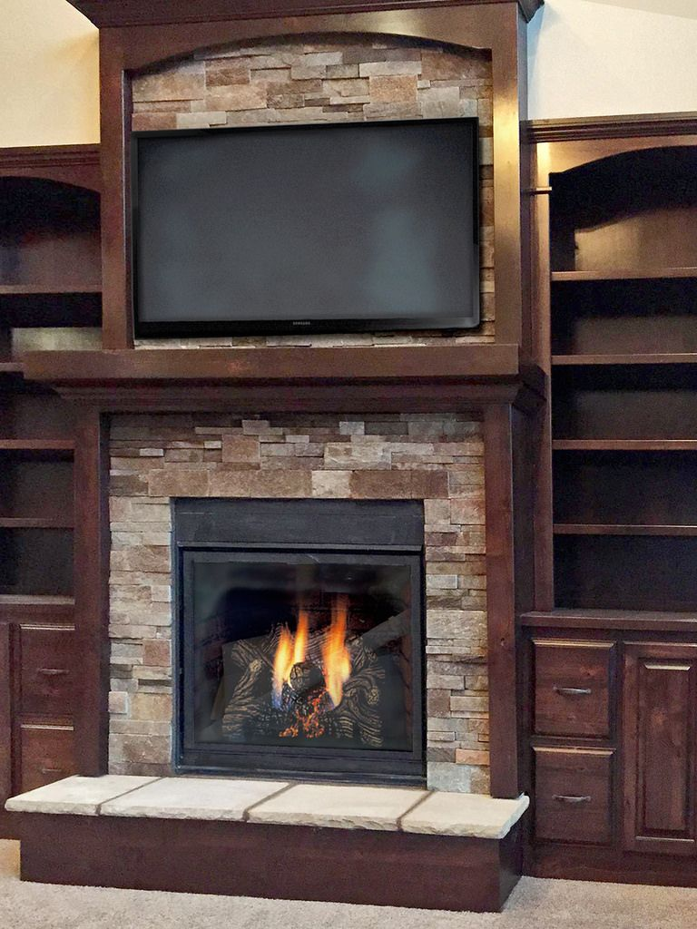 Fireplaces With Stone Surrounding Walnut Tailored Ledgestone In 2019 Design Ideas Stone