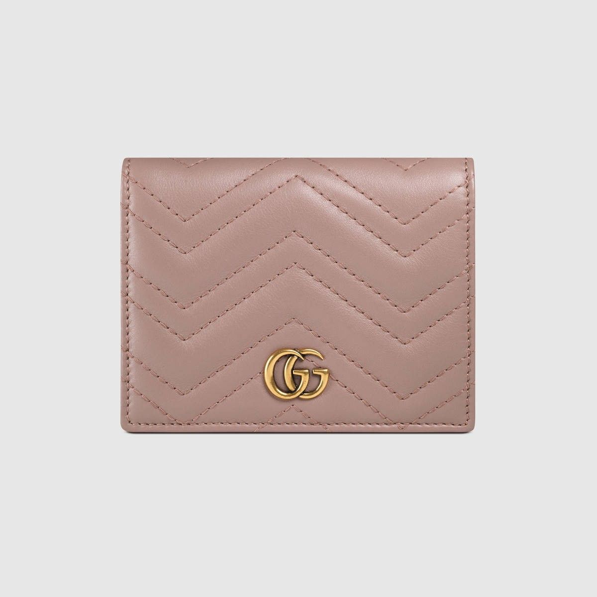 628a18539920 GUCCI Gg Marmont Card Case - Nude Matelassé Leather. #gucci #bags #leather #