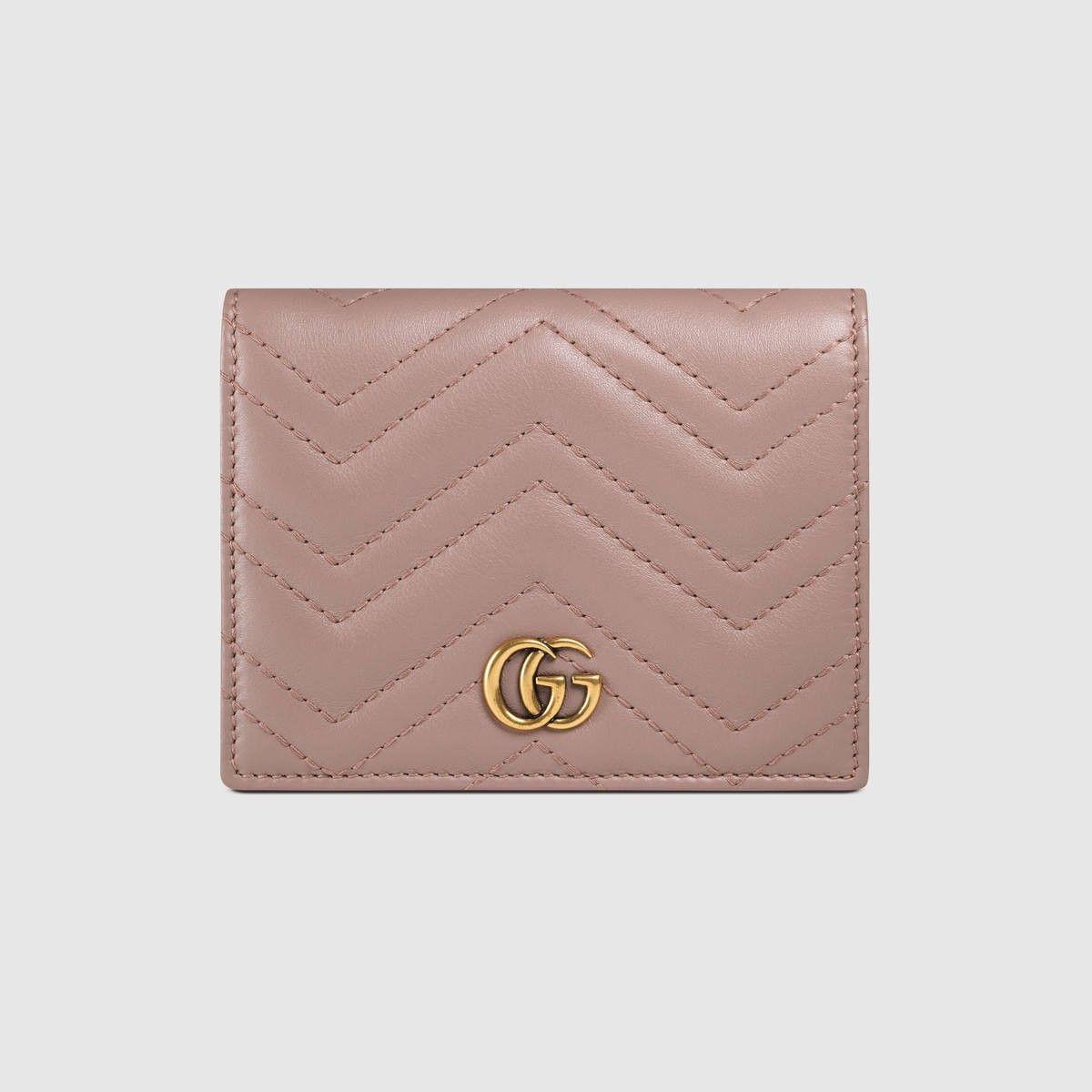 1c557af24 GUCCI Gg Marmont Card Case - Nude Matelassé Leather. #gucci #bags #leather #