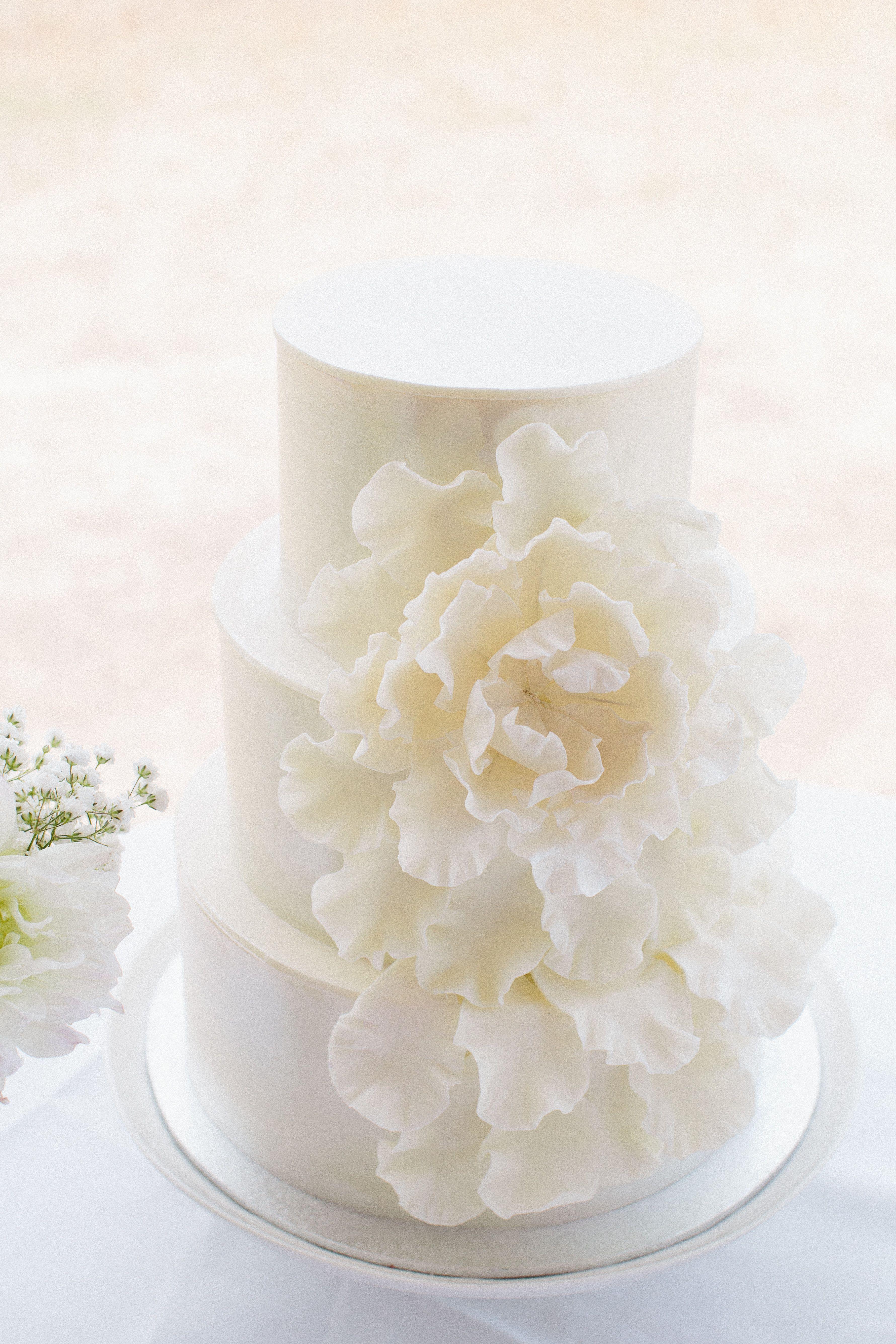 White chocolate wedding cake - White chocolate wedding cake ...