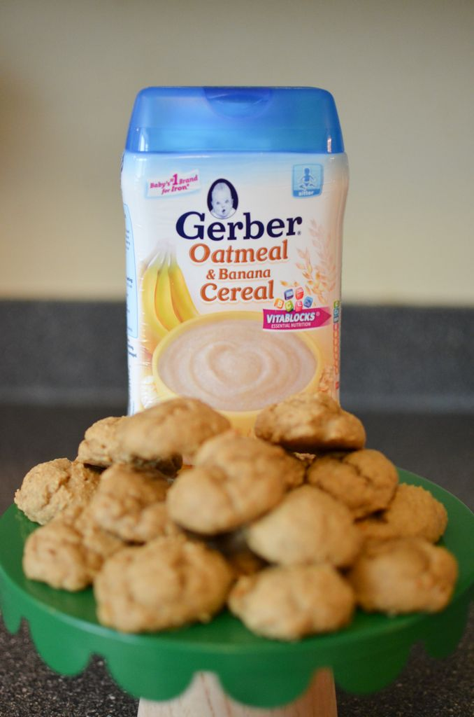 Apple Banana Cookies With Gerber Cereal Baby Food