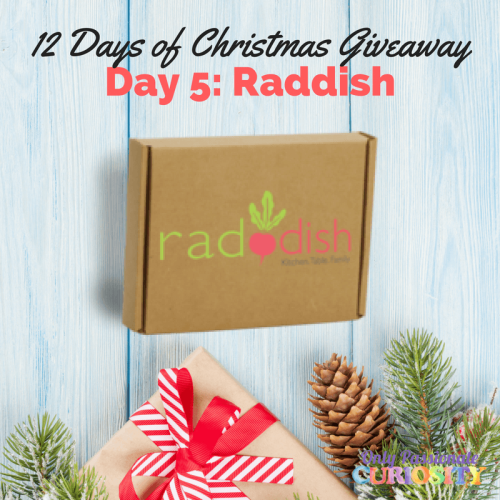 The Fifth Day Of Christmas Raddish Subscription Box Giveaway Sweepstakes Ifttt Reddit Giveaways Christmas Giveaways Giveaway Homeschool Planning