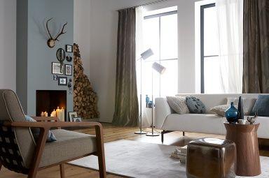 farbkombis mit sch ner wohnen farbe ethno stil kitt senfgelb und mittelblau wandfarbe. Black Bedroom Furniture Sets. Home Design Ideas