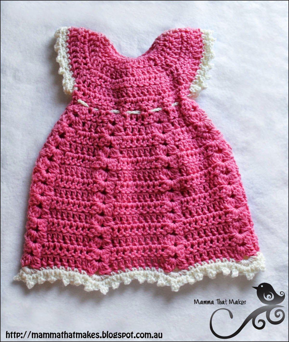 Sophia Gown - Free Crochet Pattern | Babykleidchen und Häkeln