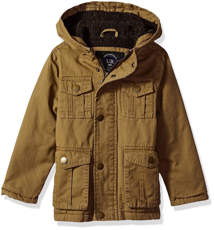 Khaki URBAN REPUBLIC Big Girls Cotton Twill Moto Jacket NEW 14