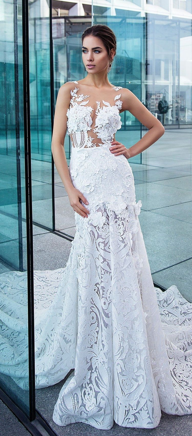 Lorenzo Rossi Divine Affection Bridal Collection | Chapel train ...