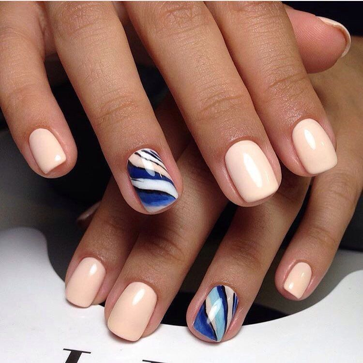 Nail Art #2216 - Best Nail Art Designs Gallery | Water nails, Short ...
