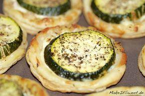 Zucchini-Blätterteig-Häppchen Rezept #partyappetizers