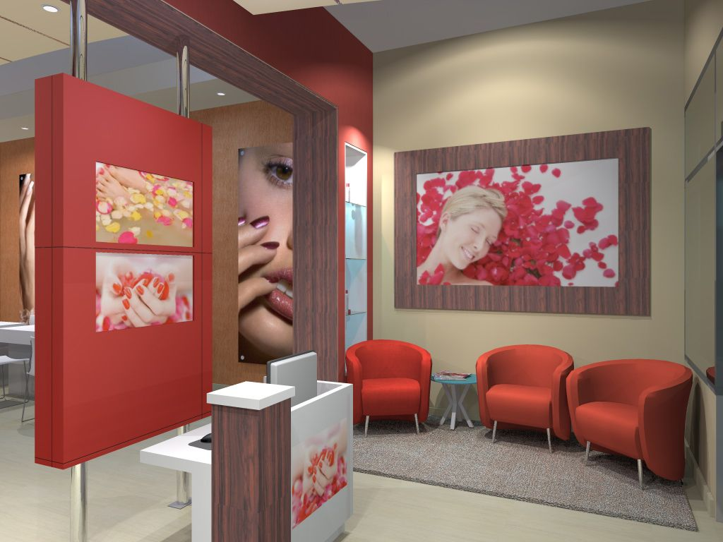 Nail salon decor prime nail salon spa dope salons for Interior design for salon