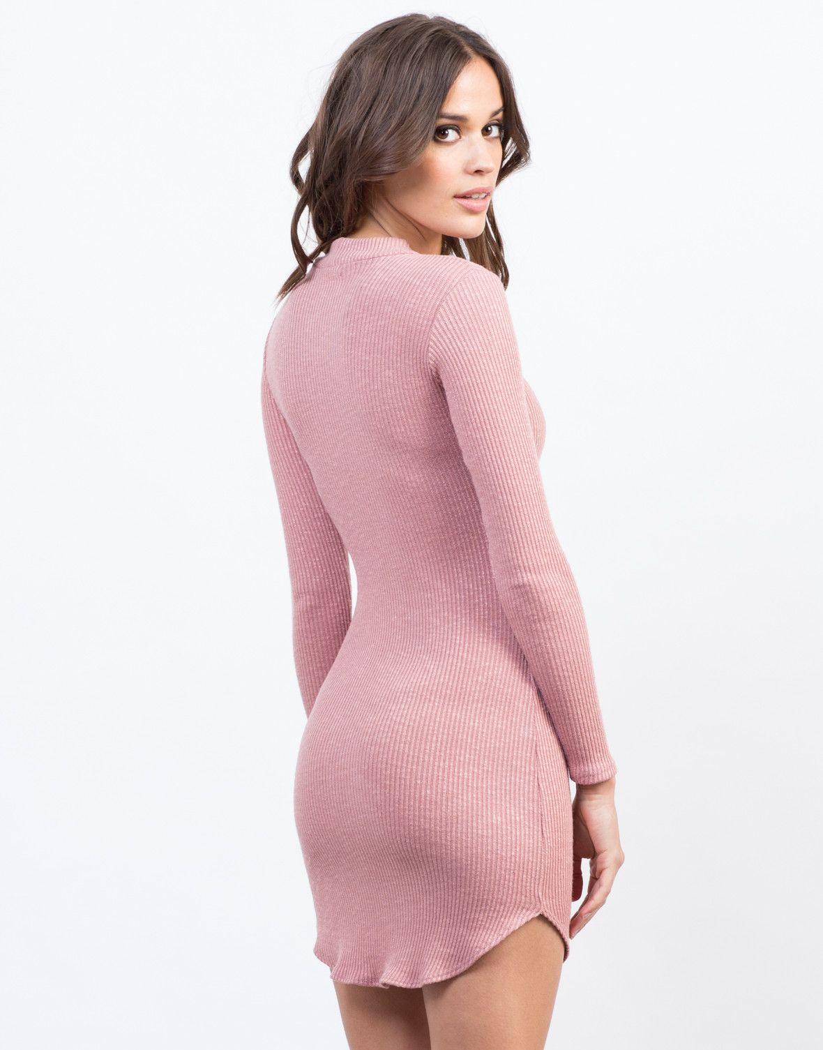 Ribbed Shirt Dress | Pink dresses, Hemline and Hand washing