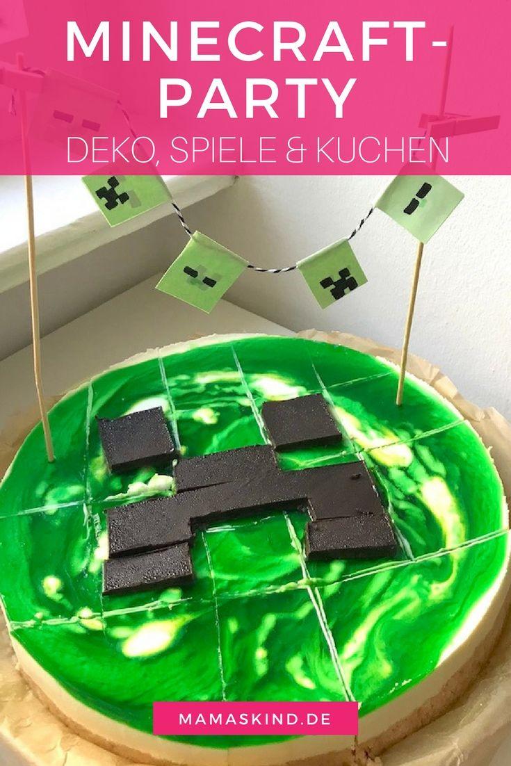 MinecraftParty Zum Kindergeburtstag Mit Deko Spielen Kuchen - Minecraft coole spiele
