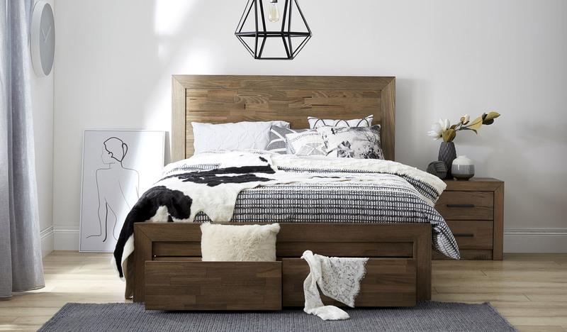 Heyfield Bed Rustic Bedding Bed Oak Beds