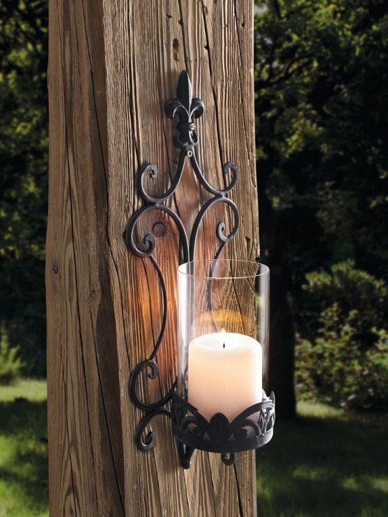 Wand Windlicht Schwertlilie Aus Metall Glas Braun Kerzenhalter Laterne Windlicht Windlicht Metall Kerzen Aufhangen