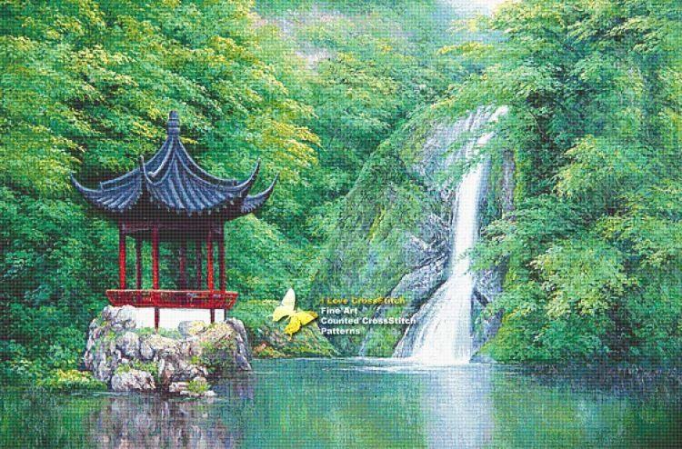 Gallery.ru / Фото #1 - Пагода у водопада - DELERJE