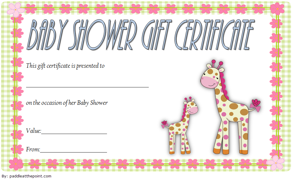 Baby Shower Gift Certificate Template FREE 3   Gift ...