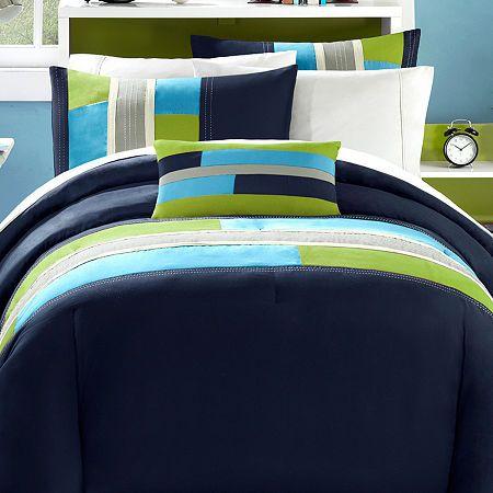Mi Zone Switch Colorblock Comforter Set In 2020 Comforter Sets