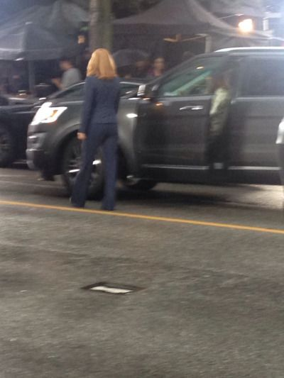 goodsailingahab:  Gillian Anderson trying to sort out how to open the back off Scully's truck.