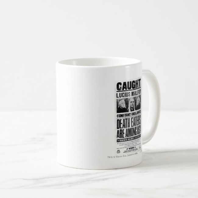 Lucius Malfoy Wanted Poster Coffee Mug | Zazzle.com #disneycoffeemugs