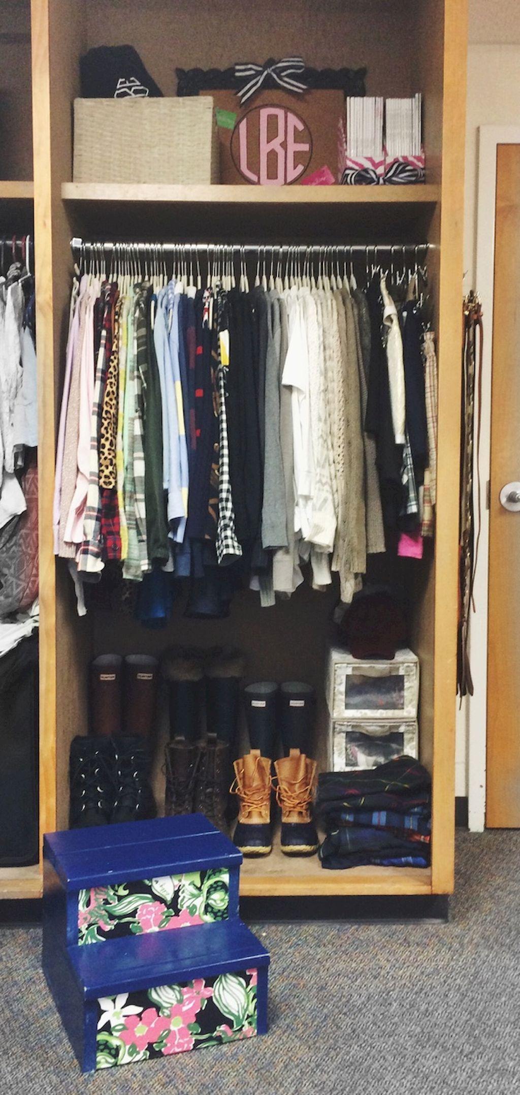 Dorm Room Closet: Creative Dorm Room Storage Organization Ideas On A Budget