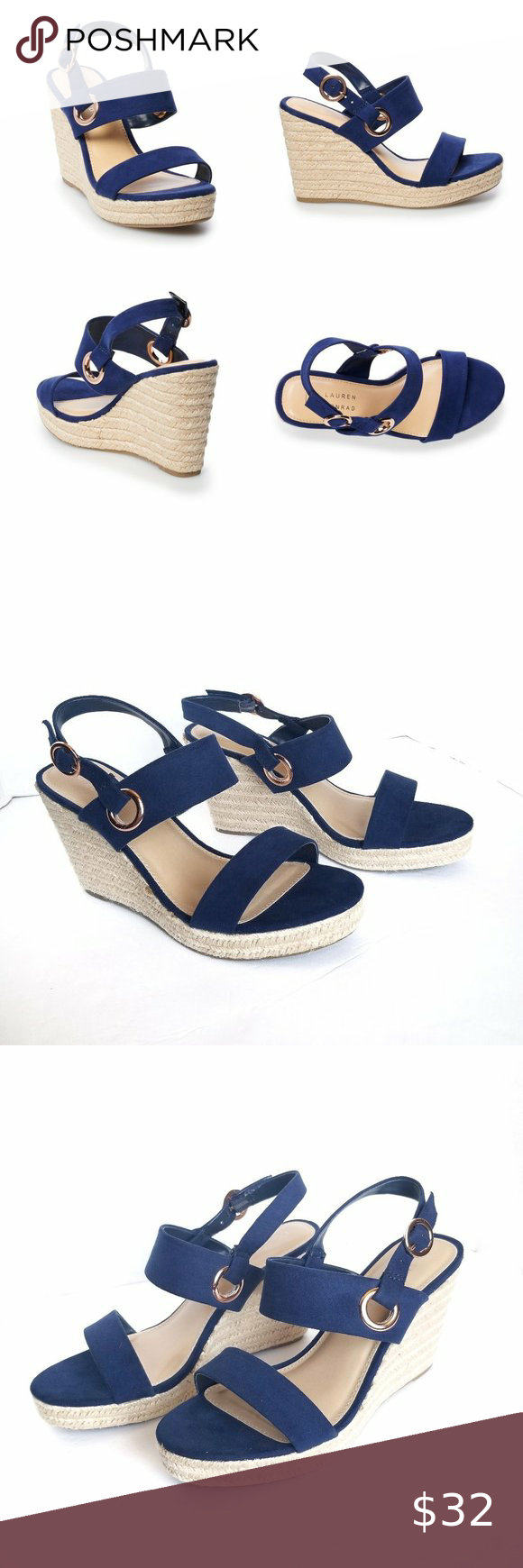 LC Lauren Conrad Carmen Womens Multi-Strap Sandals, Size