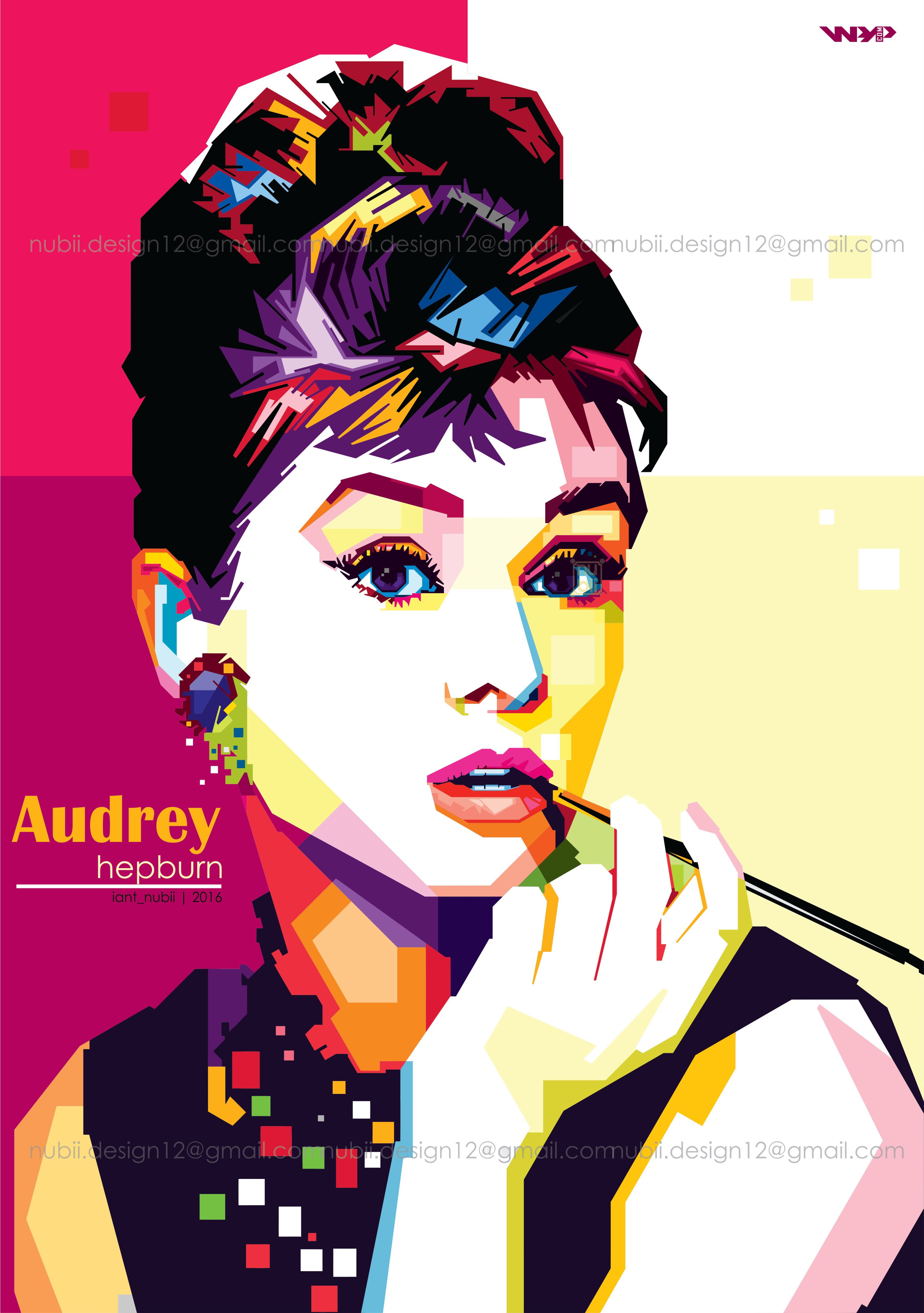 Audrey Hepburn-Breakfast at Tiffany\'- in Wedha\'s Pop Art Potrait ...