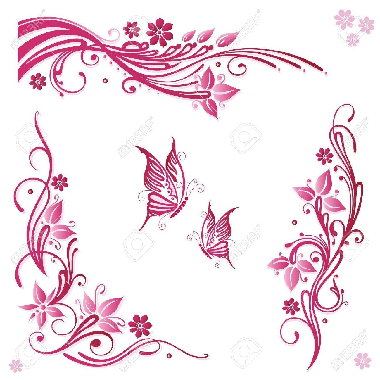 Imagenes de ramas y flores para decorar marcos para - Imagenes para cuadros ...