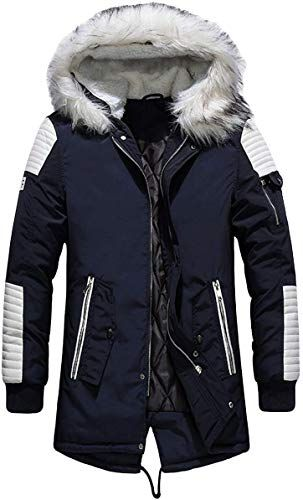New HORZEE Mens Waterproof Parka Jacket Fur Hood Winter Coat Windproof Thick Padded Jackets Extreme Weather Outwear Mens Winter clothing 70 favoritetopfashion Fashion is...