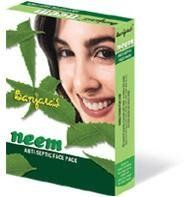 Neem Anti Septic Face Pack 100g (2 packs) by Banjara's. $26.95. Neem is the natural way of curing all type of itches, and skin disease.. Neem is pure; it is the nature's valuable gift for the human skin.. Banjara's Neem Face Pack helps to restore the natural skin oil and helps for a complete cure. Neem is pure; it is the nature's valuable gift for the human skin. Neem is the natural way of curing all type of itches, and skin disease. Banjara's Neem Face Pack helps t...