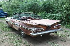 1959 Impala Convertible Barn Find Cars Rusty Cars Abandoned Cars