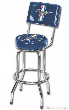 Image Of Ford Mustang Bar Stool With Backrest Garage Bar