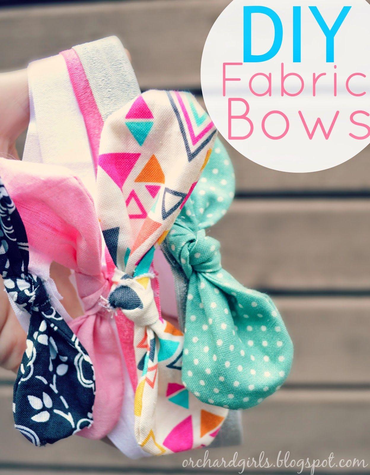 Diy fabric bows and headbands diy bow diy headband