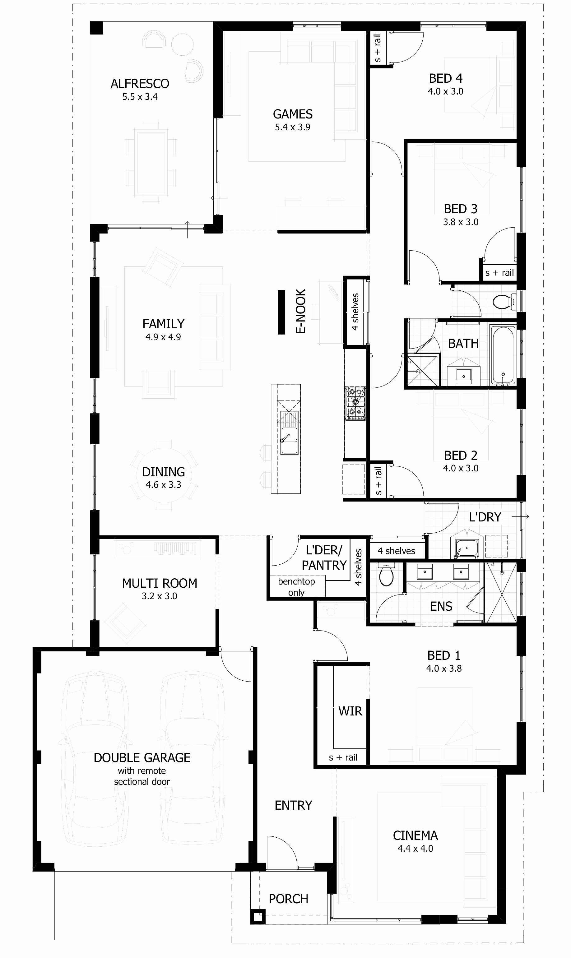 House Floor Plans without Garage Awesome Narrow House Plans