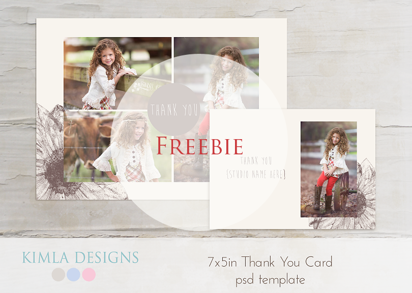 Kimla Designs And Photography Free Thank You Card Psd Template