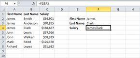 Join Strings in Excel