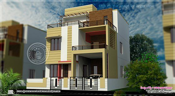 Roof Top Deck 3 Storey House Design 3 Storey House House Plans Small house plan in kolkata