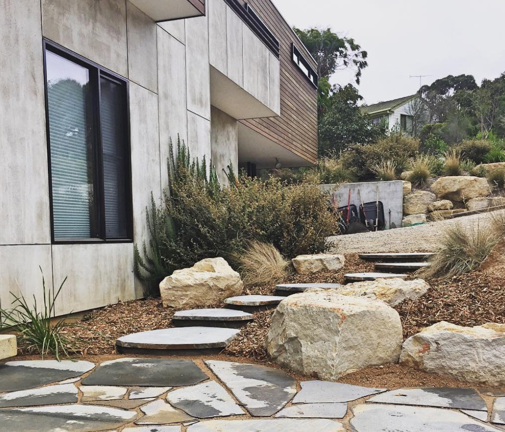 Native Home Garden Design: Bluestone Steppers
