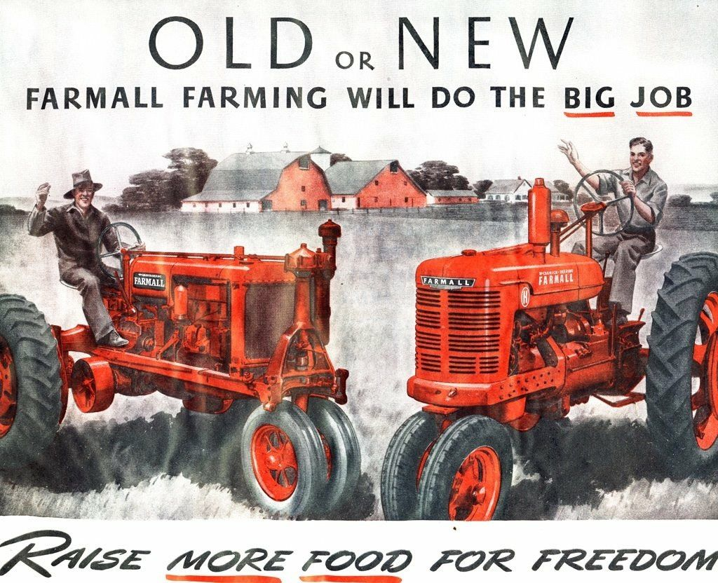 Farmall F 20 And Farmall H Vintage Tin Ad Farmall Antique
