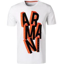 Photo of Armani Exchange Tshirt Herren, Baumwolle, weiß Armani Exchange