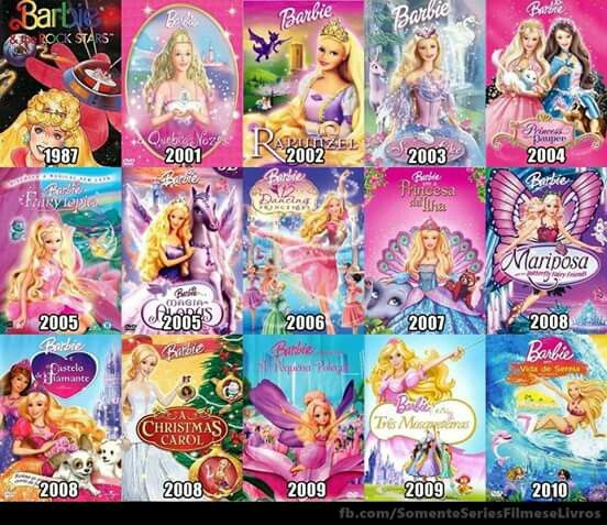 Movies With Images Barbie Movies List Barbie Movies